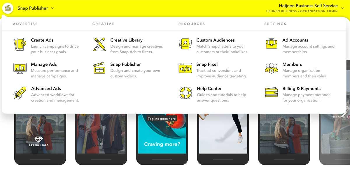Snapchat marketing dashboard