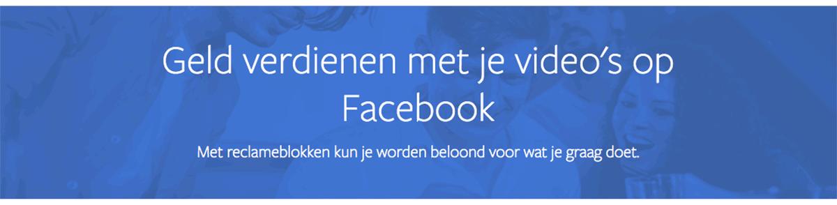 verdienen met facebook video